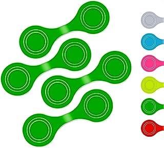 Thingles | 4 x Reflektor Clips – Magnetische Reflektoren für Kleidung, Jacke, Hundegeschirr - flexibel einsetzbar beim Joggen, am Rucksack oder Schulranzen