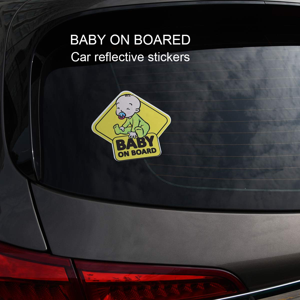 Baby on Board Sign Sticker,Reflective Vehicle Car Signs Kids Safety Warning Sticker for Driver,Safety Caution Sign Stickers for All Cars,2 Pack