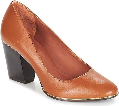 ANDRé Rizzo zapatos de tacón mujeres Camel zapatos de tacón