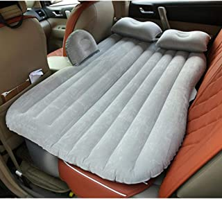 Car Inflatable Bed Protable Camping Air Mattress with 2 Air Pillows Universal SUV Grey