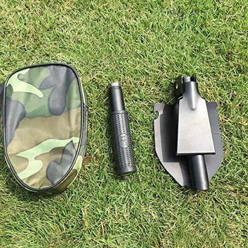 MOC Pala plegable multifuncional de Tragba, inoxidable, ideal para camping, supervivencia y caza, 17-40 cm