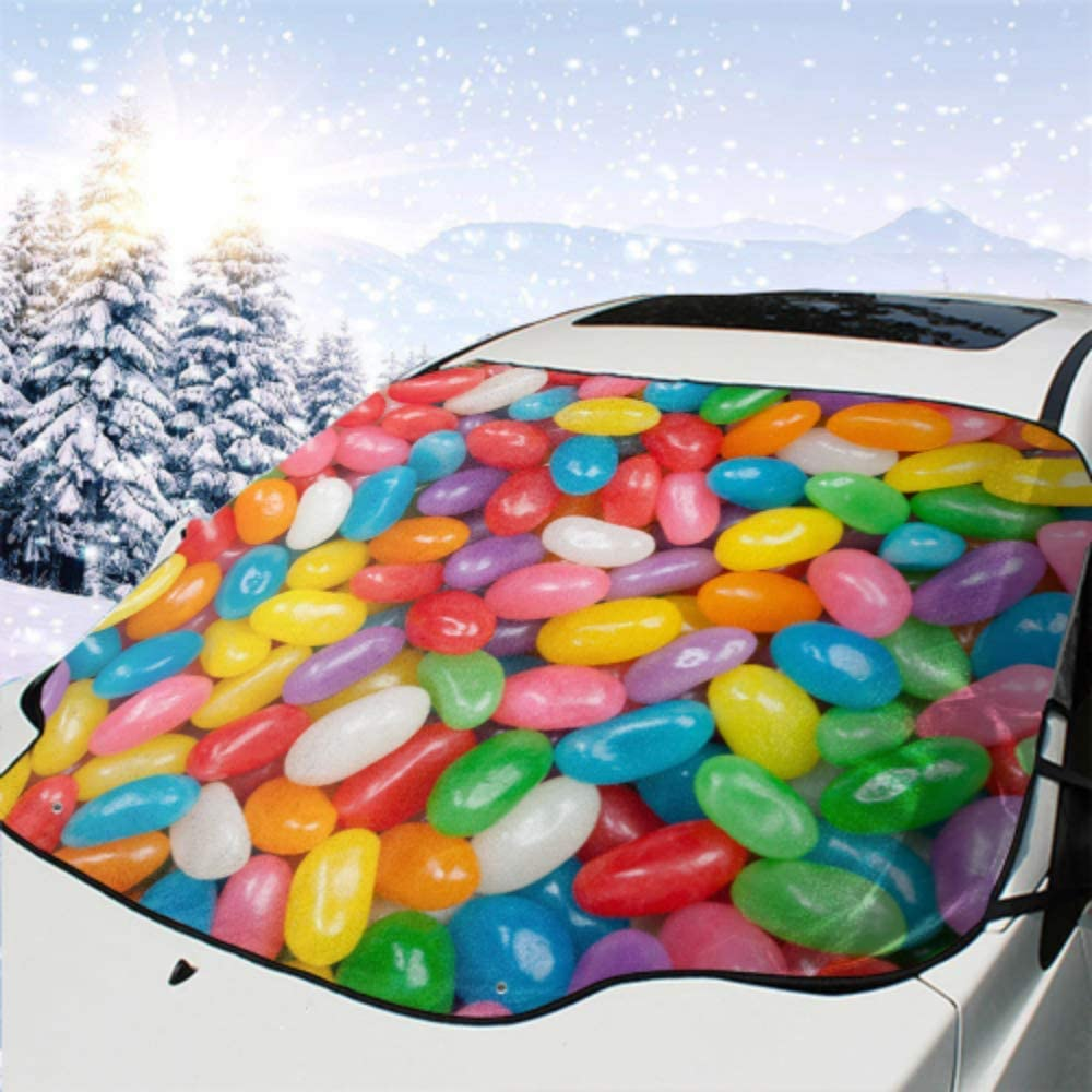 HRRPS Car Front Windshield Cover Beans Assorted I Jelly National uniform free shipping Be super welcome Colorful