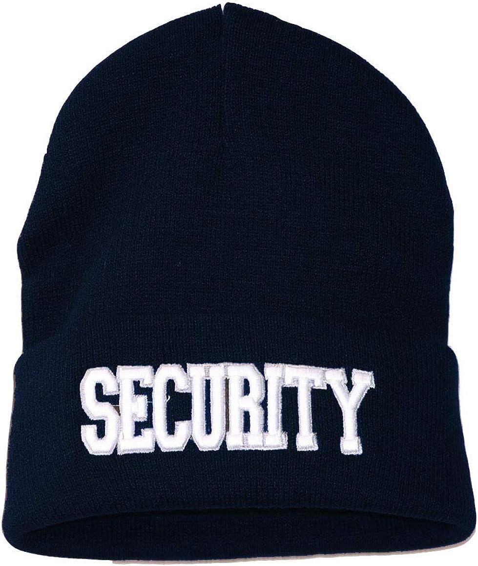 Security Knit Beanie Cuff Cap, Navy