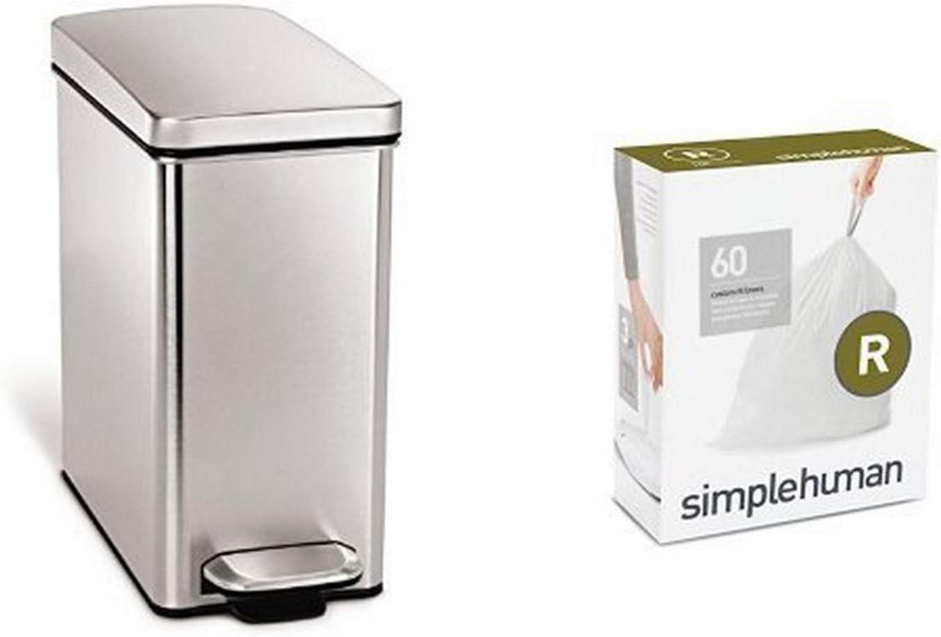 simplehuman 10 Under blast sales litre Ranking TOP10 profile fingerprint-proof brushed can step