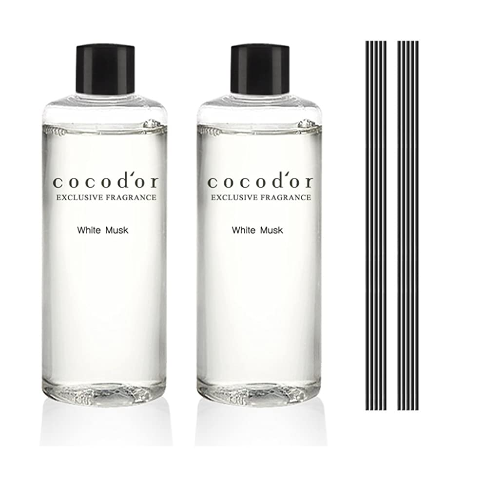 ボトルネック挨拶する三番(ココドール) COCODOR リードディフューザーリフィル2個(400ml) (ホワイトムスク) [並行輸入品]
