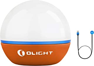 OLIGHT Obulb Bombilla LED 55 lúmenes blanco cálido LED 2700K y Rojo LED Pequeña Luz Nocturna 4 modos Regulable recargable portátil luz de bolsillo luz de emergencia iluminación exterior(naranja)