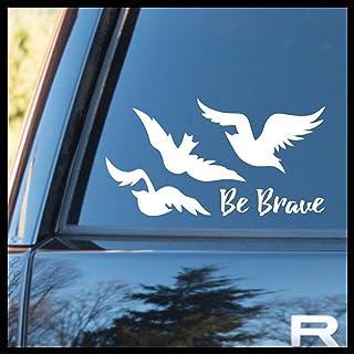 Be Brave, Tris` Ravens Tattoo, SMALL Vinyl Car/Laptop Decal