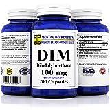 Mental Refreshment: DIM 100mg, 200 Capsules - (Diindolylmethane) (1 Bottle)