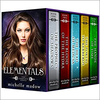 Elementals: The Complete Series                   Written by:                                                                                                                                 Michelle Madow                               Narrated by:                                                                                                                                 Caitlin Kelly                      Length: 31 hrs and 26 mins     26 ratings     Overall 4.3