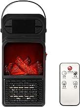 TFACR Mini Calentador Espacial para el hogar y la Oficina, Calefactor de Llama eléctrico con Control Remoto, Estufa electrica silencioso de cerámica montado en la Pared para Regalo Familiar