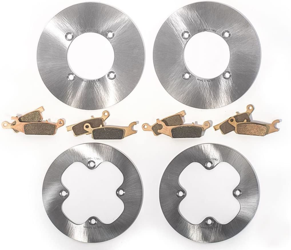 Race safety Max 59% OFF Driven Front MudRat Brake Yam Rotors Pads for Discs