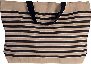 Grand sac de shopping en toile de jute en coton mélangé XXL et sac de shopping pour la plage, les loisirs, les courses ou ...