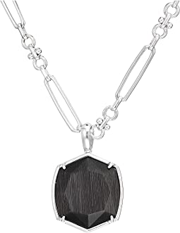 Rhodium Black Cats Eye