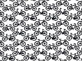 Baumwoll-Popeline-Stoff, Fahrräder, bedruckt, Meterware,