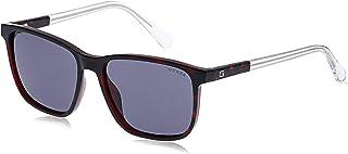 Guess Men's Sunglasses GU694471A56 - Bordeaux/Smoke - Injected