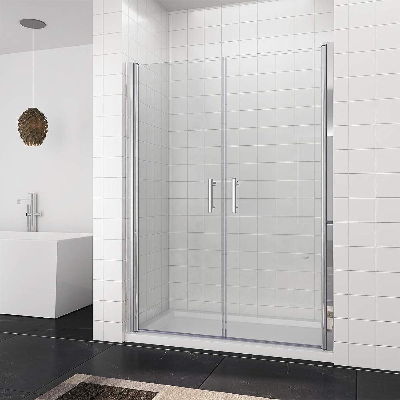 Sunnyshowers Dusche Nischenabtrennung Duschkabine Duschabtrennung Pendeltür 160x195 cm