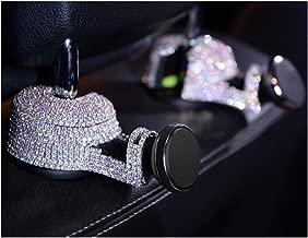 LuckySHD 1 Pc Car Headrest Hanger Back Seat Hidden Hook with Car Magnetic Mount Phone Holder - Sliver