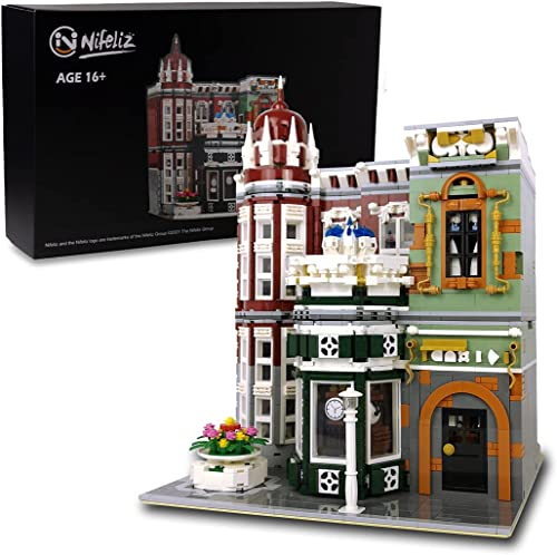 discount Nifeliz Street Antique Collection Shop 2021 MOC Building Blocks and Engineering 2021 Toy, Construction Set to Build, Model Set and Assembly Toy for Teens and Adult(3037 Pcs) online sale