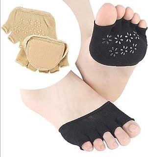 Healifty Demi-chaussettes respirantes Heelless Five Toe Socks Chaussettes courtes mi-bas pour femmes