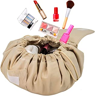 FLORICA Cosmetic Bag Large Capacity Lazy Makeup Toiletry Bag Multifunction Storage Portable Quick Pack Waterproof Travel Bag for Womens Girls