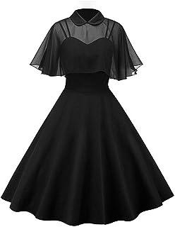 GownTown Women's 1950s Cloak Two-Piece Cocktail Dress