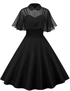 GownTown Women's 1950s Cloak Two-Piece Cocktail Dress
