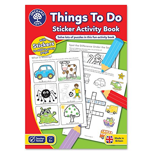 Orchard Toys Things To Do Sticker Colouring Book - Educational Activity...