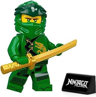 LEGO Ninjago Minifigure - Lloyd (Legacy) with Gold Sword and Display Stand 70670