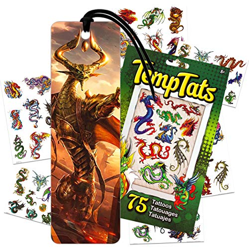 Magic The Gathering Bookmark Bundle ~ Premium Fantasy Card Game Bookmark for Novel Journal Notebook with Dragon Tattoos (Party Supplies Office Supplies School Supplies)