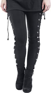 Women's Sexy Black Satin Side Lacing Solid Pants Long...