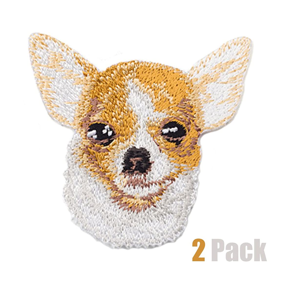 2 Pack Delicate Embroidered Patches,Cute Dogs Embroidery Patches, Iron On Patches, Sew On Applique Patch, Custom Backpack Patches for Men, Women, Boys, Girls, Kids, SUPER COOL! (Chihuahua)