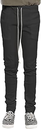 Basic Drawstring Pants Black Size L