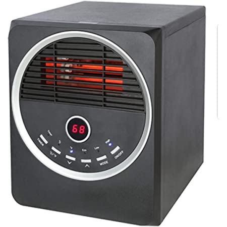 Amazon Com Konwin Infrared Wood Cabinet Heater 6 Heating Elements Black Home Kitchen