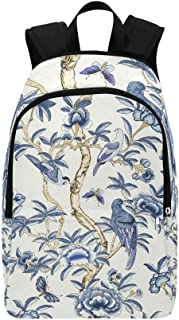 IIAKXNB Giselle Blue White T Collection Imperi Casual Daypack Travel Bag College School Backpack Mens Women