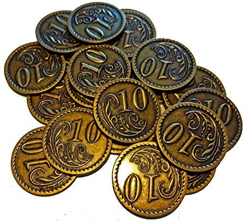 20 Goldmünzen aus Metall - Wert 10