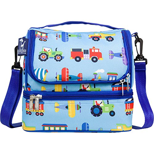 Wildkin Kids Two Compartment Insulated Lunch Bag for Boys and Girls, Perfect Size for Packing Hot or Cold Snacks for School and Travel, Lunch Bags Measures 9 x 8 x 6 Inches, BPA-Free (Transportation)