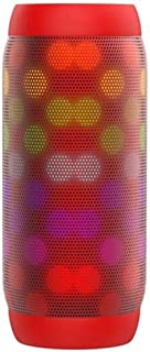 KJRJL LED Bluetooth Speaker,Night Light Changing Wireless Speaker,Portable Wireless Bluetooth Speaker 6 Color LED Themes,360° Surround Sound HiFi Stereo Super Bass,Built-in Microphone Radio