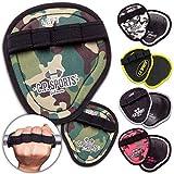 C.P. Sports Power Grips, Grip Pads, Griffpsds, ideal para culturismo y deportes de fuerza, Powerpad con Fingerschlaufe (amarillo)