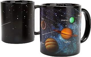 Xinqin Tasse de Café Mug Changeante de Couleur Planète, Tasse Magique, Tasse Univers Galactique thème en Céramique d'impre...