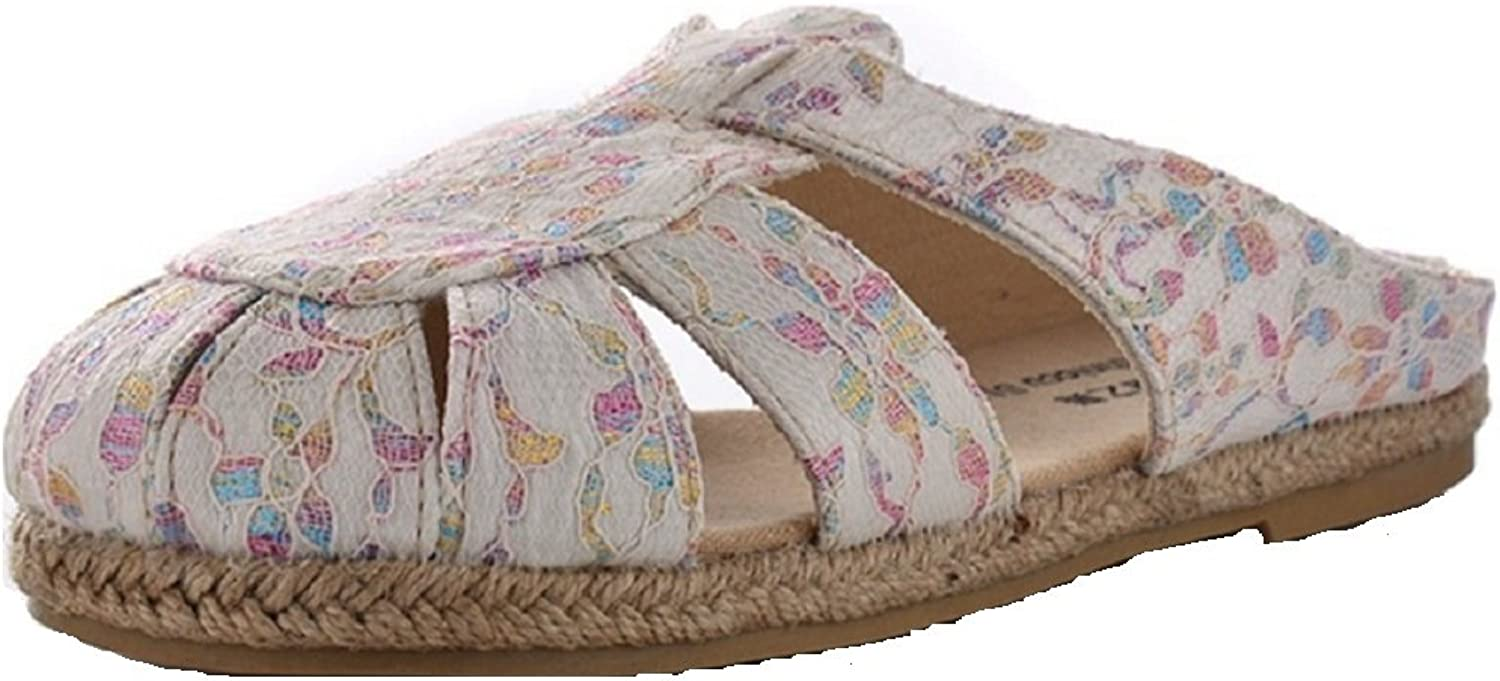 T&W Women's Handmade Embroidery Fabric Espadrilles Slippers Mules & Clogs shoes