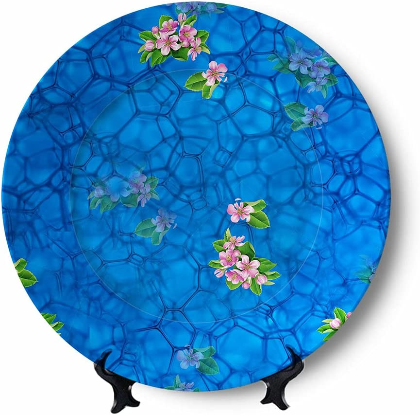 Flower in Water Decorative mart Plate Home Fun Plates High quality new Wobble- Ceramic