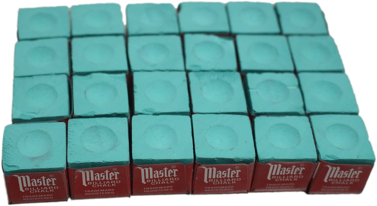 24 pcs Green Master famous Cue Chalk Pool Max 67% OFF