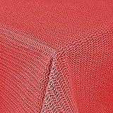 Unbekannt GARTENTISCHDECKE 130x160cm WETTERFEST eckig Anti RUTSCH (110x140cm, Rot)