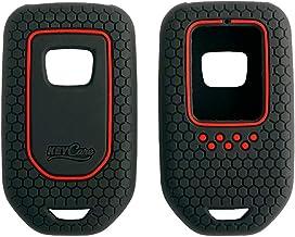 Keycare® Silicone Key Cover for Honda City, Civic, Jazz, Amaze, CR-V, WR-V, BR-V Smart Key (Push Button Start Models) (Black)