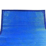 YXX-Lonas Azul Cubierta de piscina solar para piscinas elevadas (Lona de burbujas de 1,6 cm de diámetro para piscinas rectangulares) (Size : 3×3m/9.8×9.8ft)