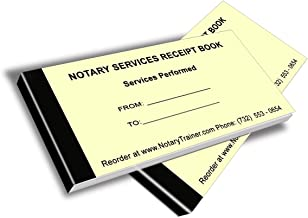Notary Services Receipt Book