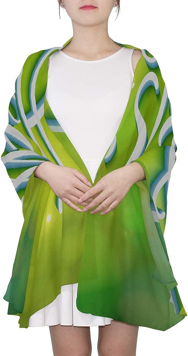 Scarf Unisex Green Greeting Fun Energetic Spring Womens Fashion Scarfs Lightweight Wrap Scarf Shawl Lightweight Print Scarves Colored Scarfs For Women Wrap Women Shawl