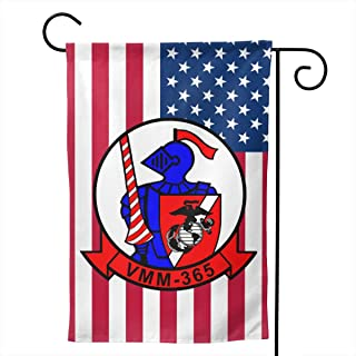 USMC VMM-365 Blue Knights Welcome Yard Garden Flag Banners for Patio Lawn Outdoor Home Decor 12.5