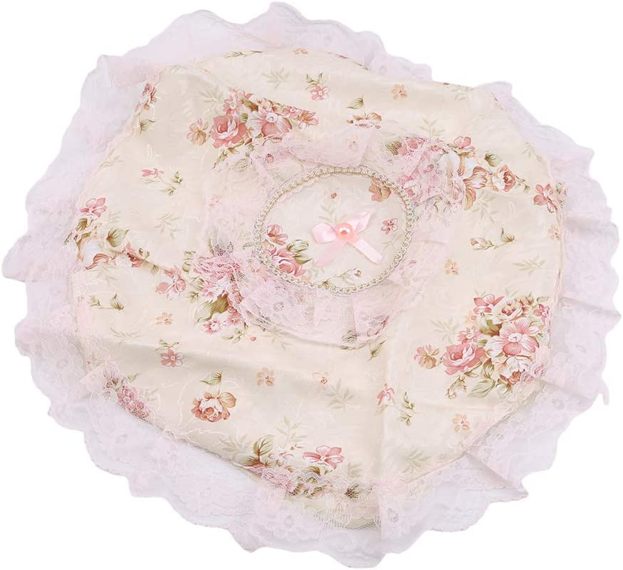 DearAnswer Elegant Flower Challenge the lowest price Floral Printed Cover Fan Max 66% OFF Fashion Lace