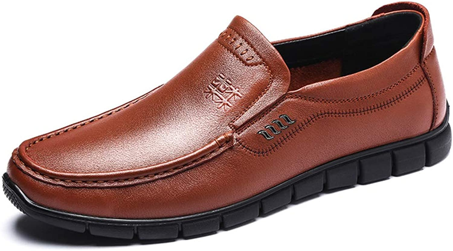 LXLA- Mens Business Casual Dress Leather shoes Slip-On Business Formal Loafers for Men
